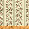 Clayton: 1860 Floral Stripe - Red