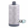 Aurifil 28wt Aluminium (2615) thread