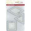 "1.5"" Square, Triangle and Diamond Stamp Set"