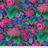 Kaffe Fassett Collective : Spring 2019, Rose and Hydranga, Navy