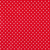 Small Dot - White on Red