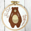Applique Hoop Folk Bear Mini Kit