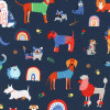Whiskers and Tails : Assorted Dogs - Navy