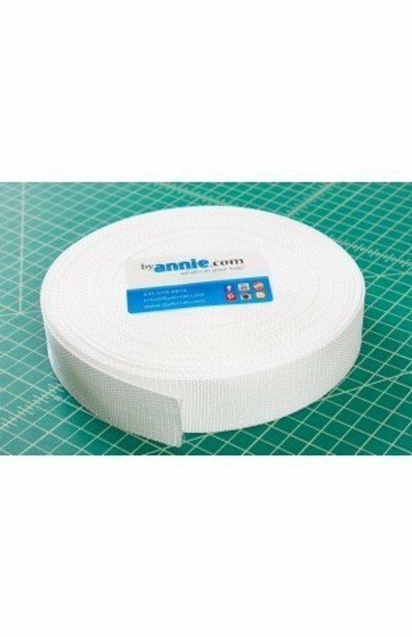 "1 1/2"" Polypro Strapping - White"