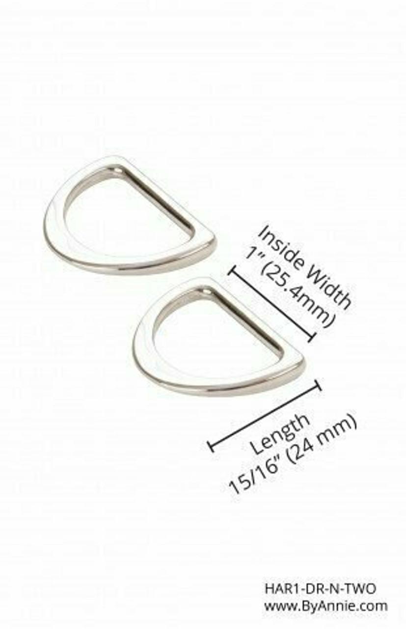 "1"" Nickel Flat D Ring"
