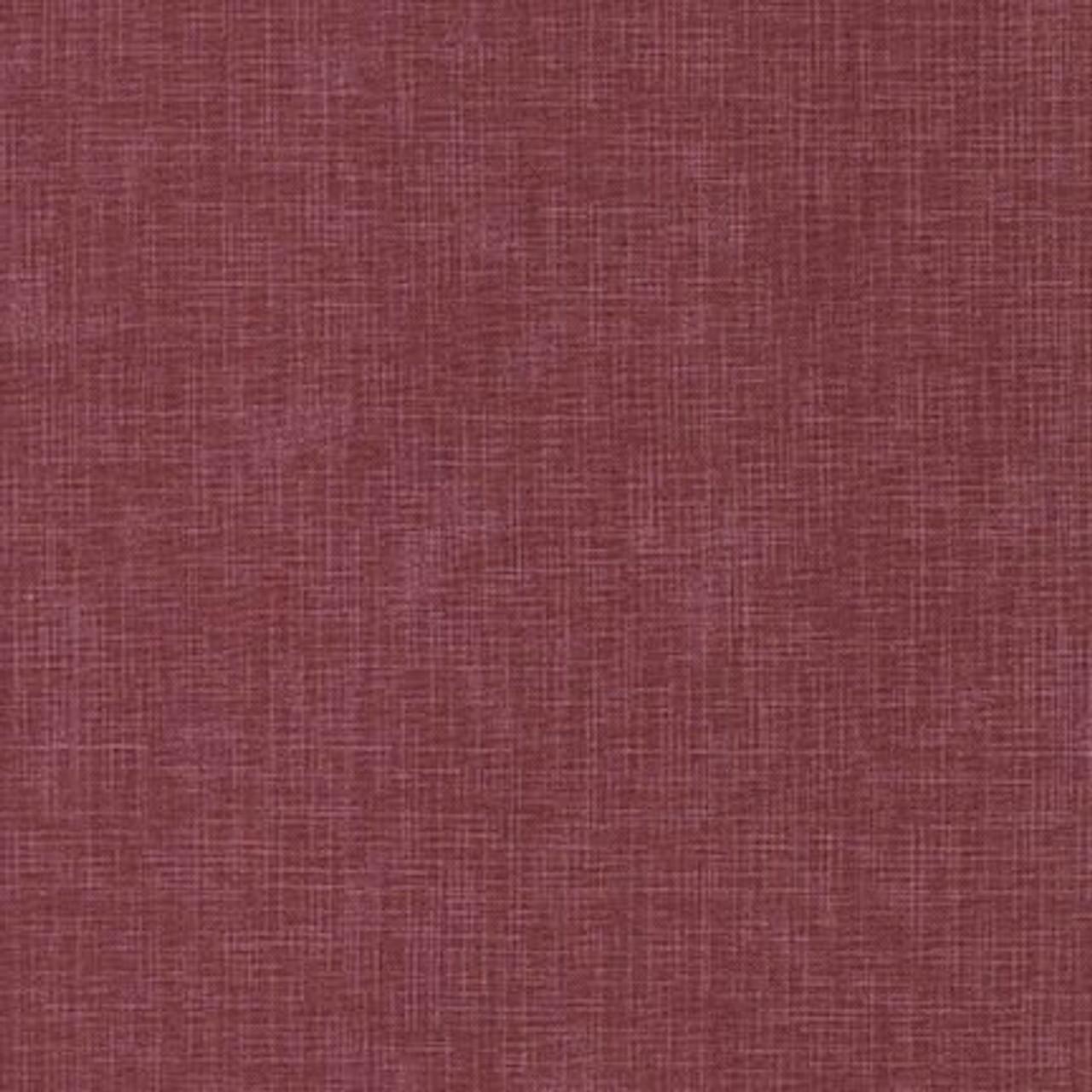 100% Cotton linen look - Berry