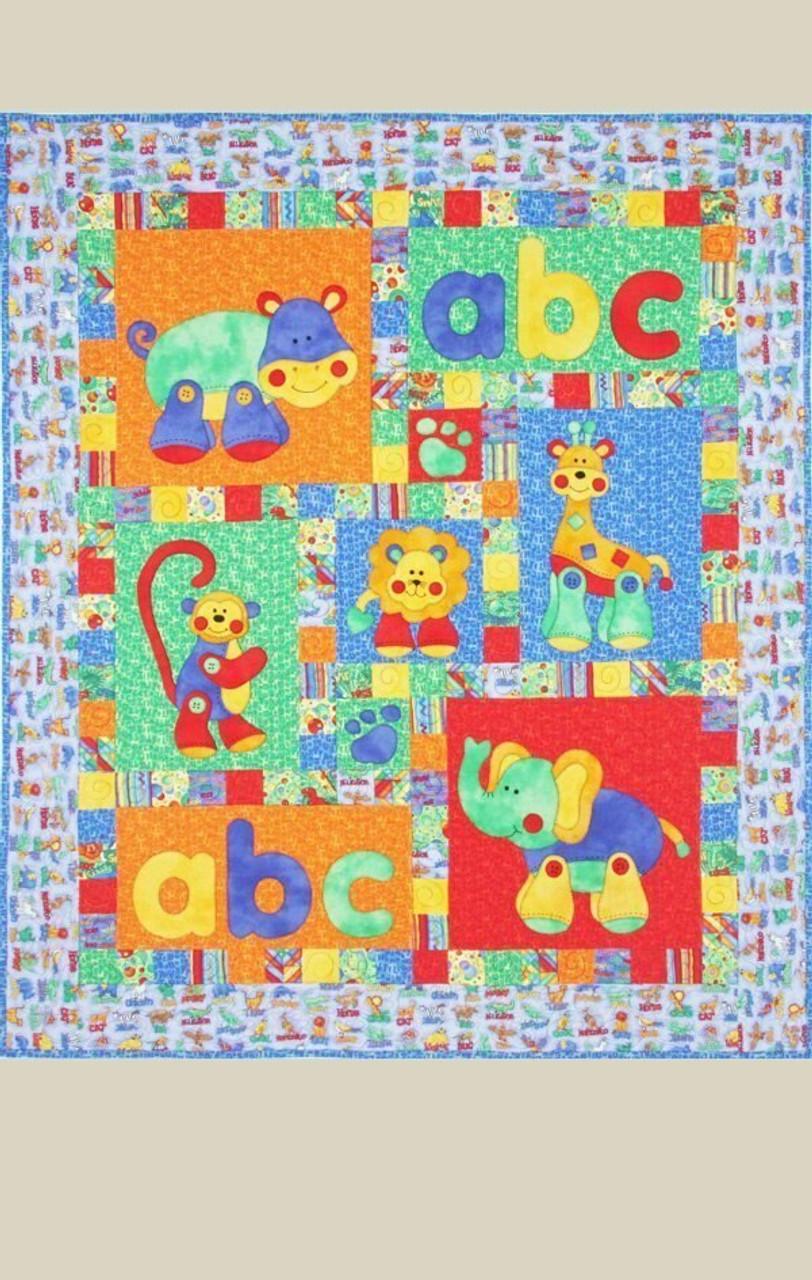 Alphabet Jungle Pattern