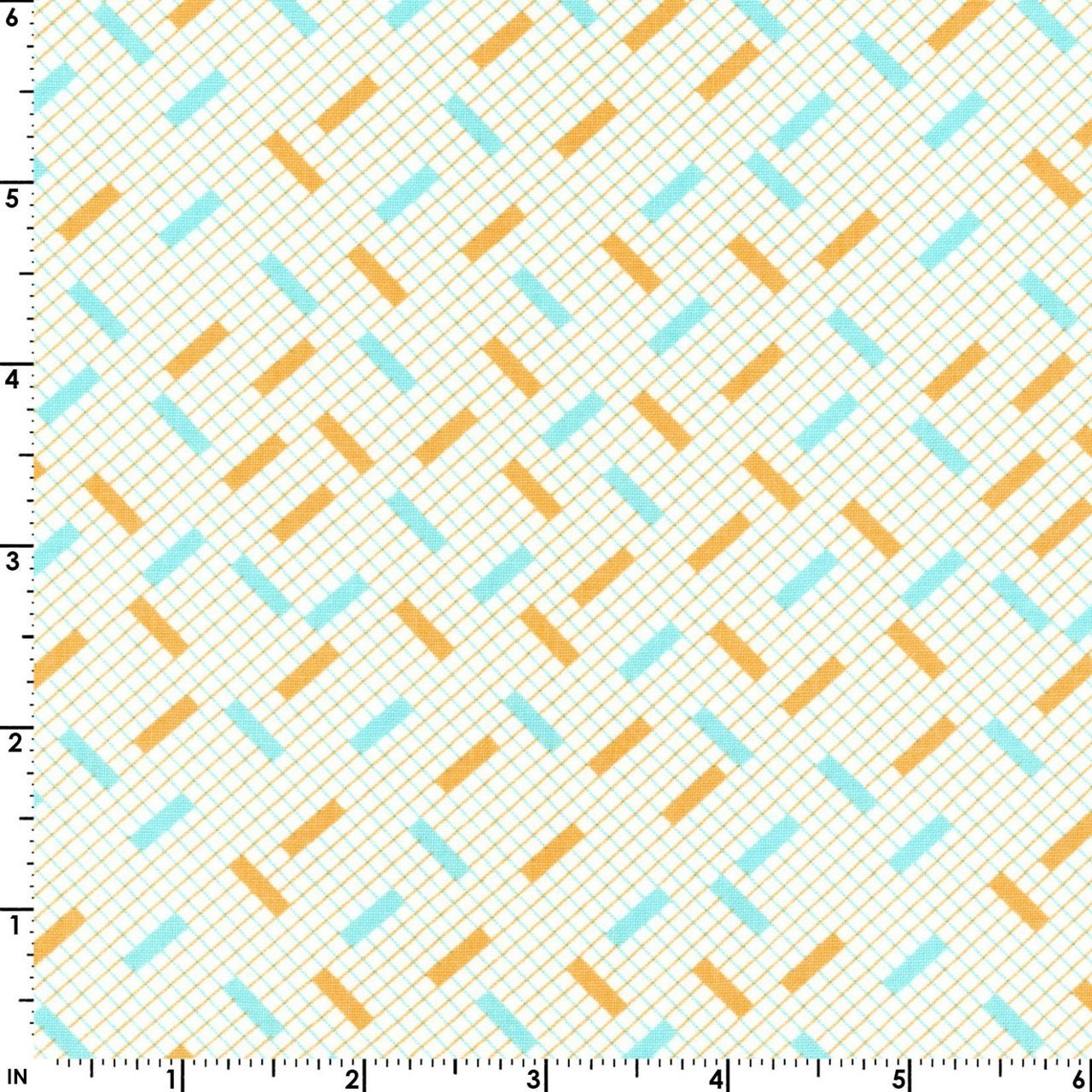 Animal Quackers -  Diagonal Geo Orange