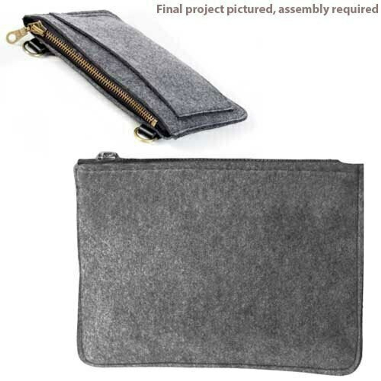 Aster and Anne Felt Kit - Zipper Purse with no hardware
