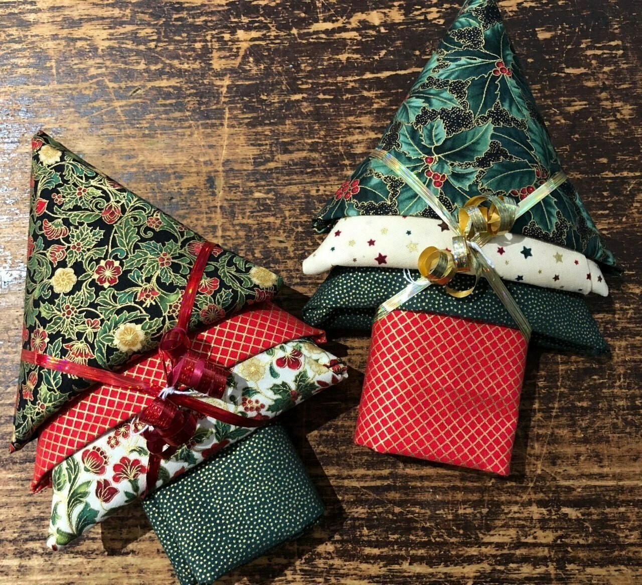 Christmas Fat Quarter Trees