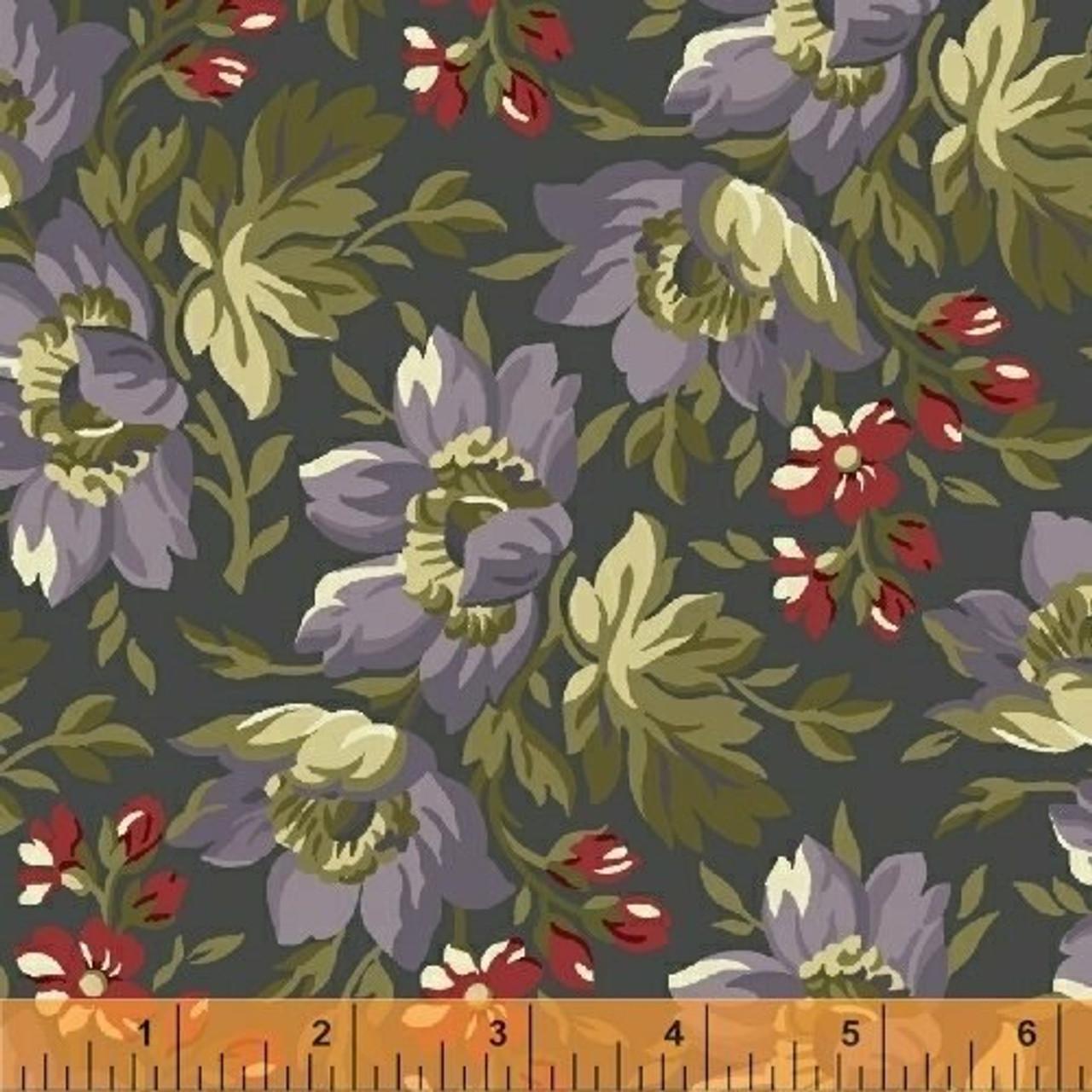 Clayton: 1860 Floral - Grey