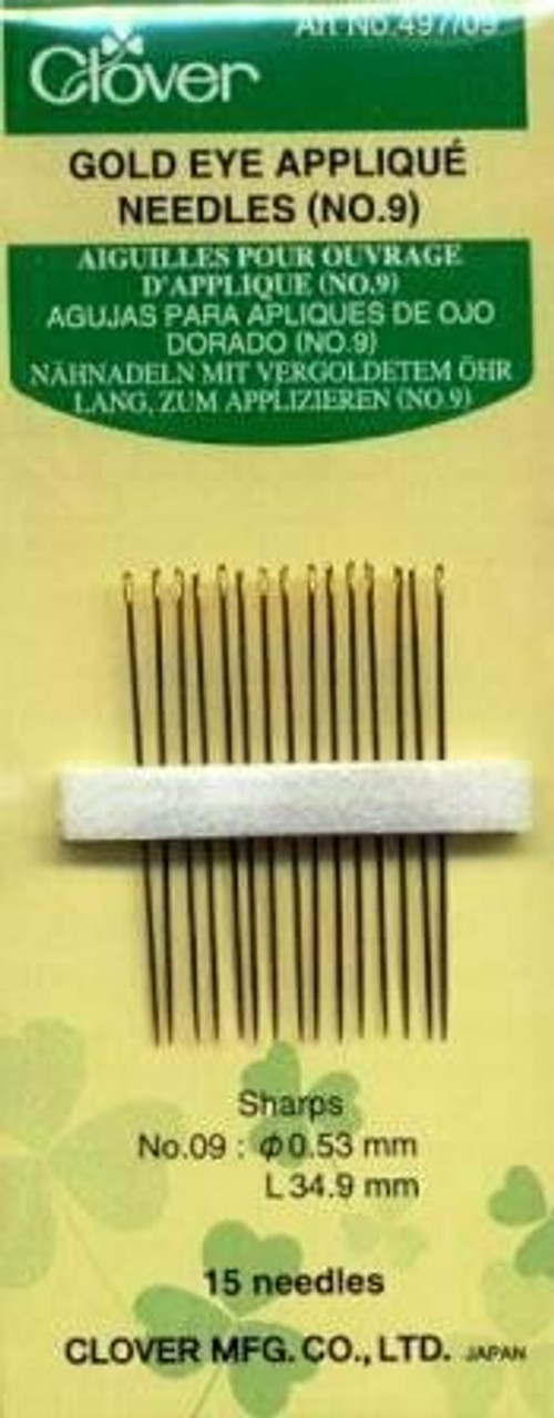 Clover Gold Eye Applique Needles