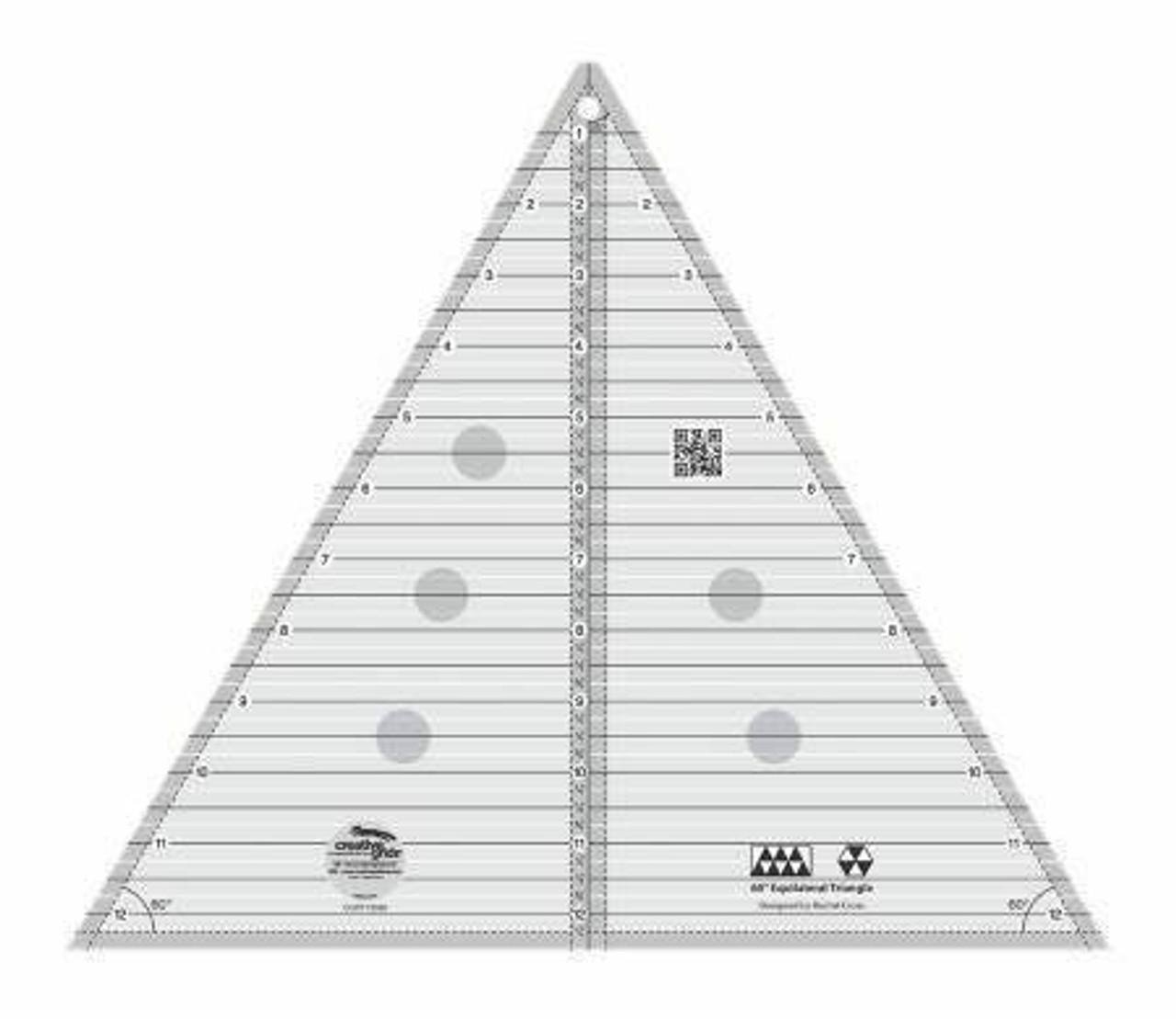 "Creative Grids 60 Degree Triangle 12.5"" Ruler"