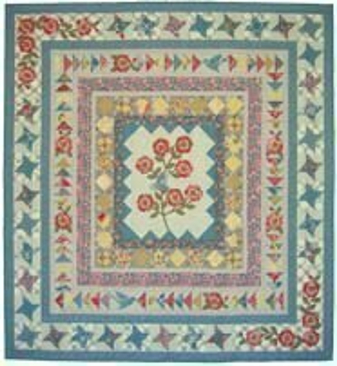 Faded Roses - a border by border pattern by Leslee Price