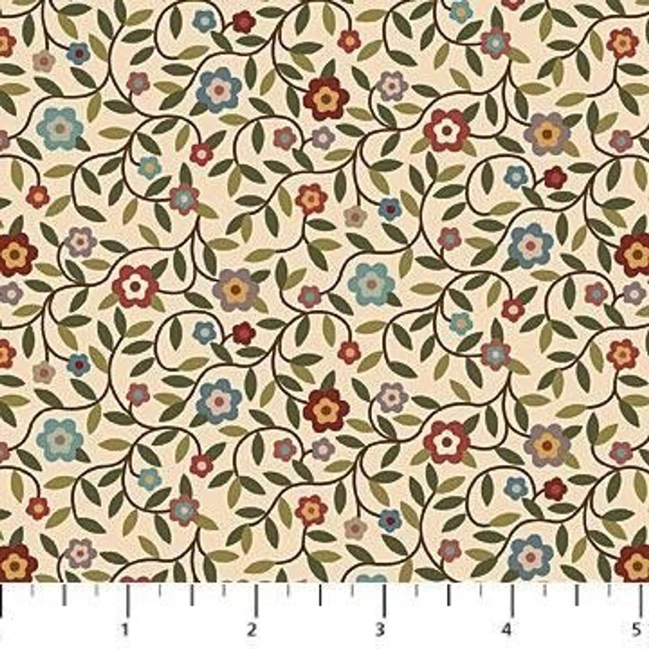 Heritage Quilting : Flowervine Cream