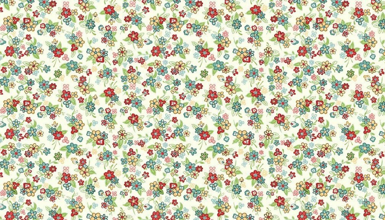 Katie Jane: Multi Floral - Ivory