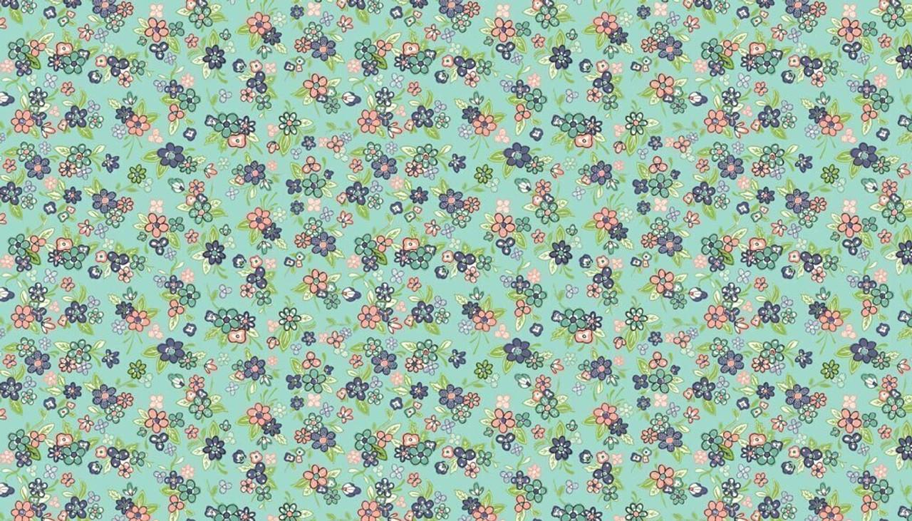 Katie Jane: Multi Floral - Turquoise