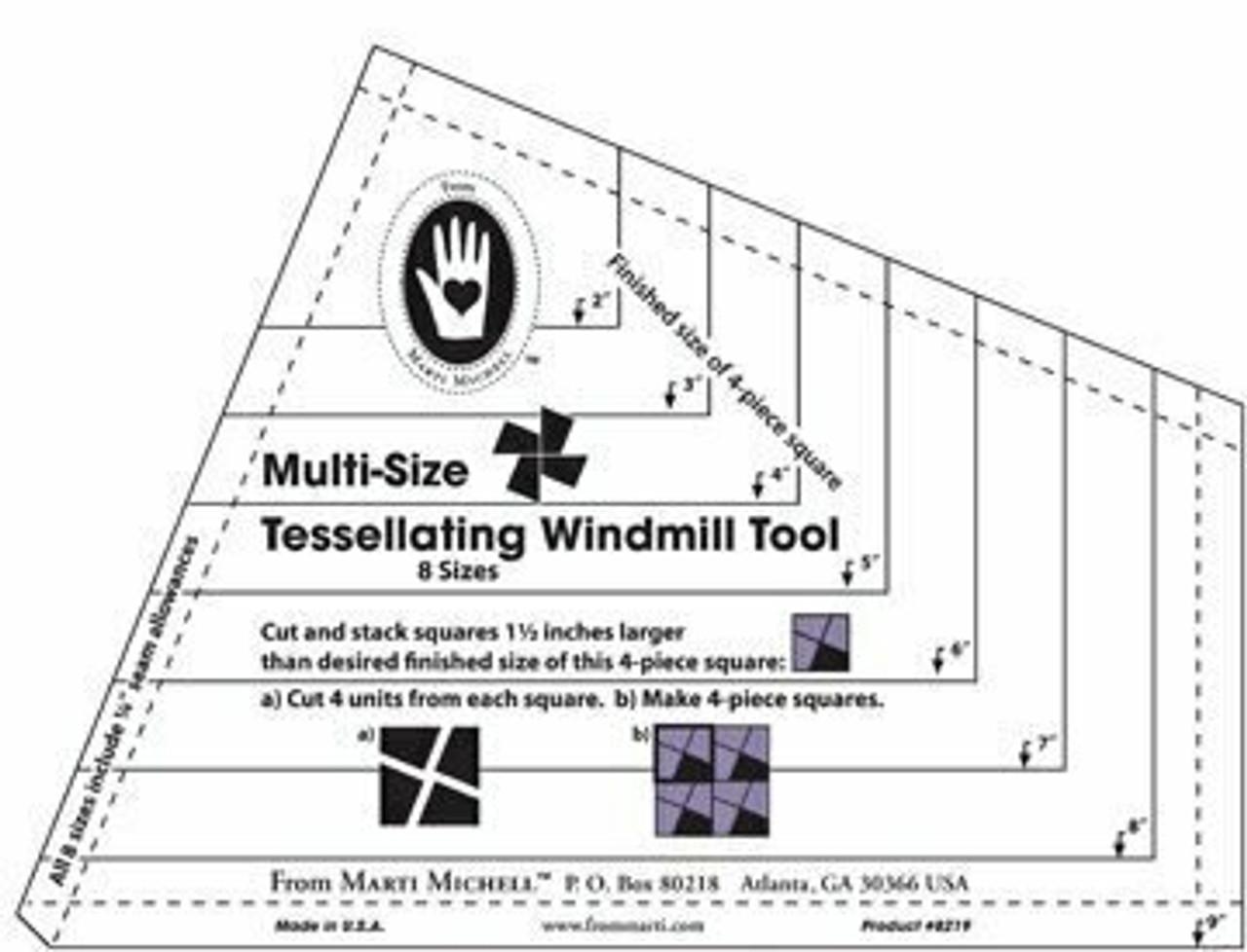 Marti Michell Tessellating Windmill template