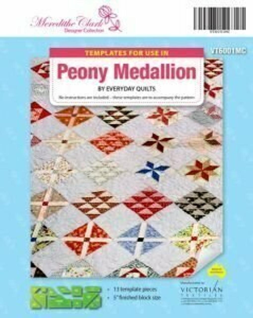 Meredithe Clark Designer Collection - Peony Medallion templates