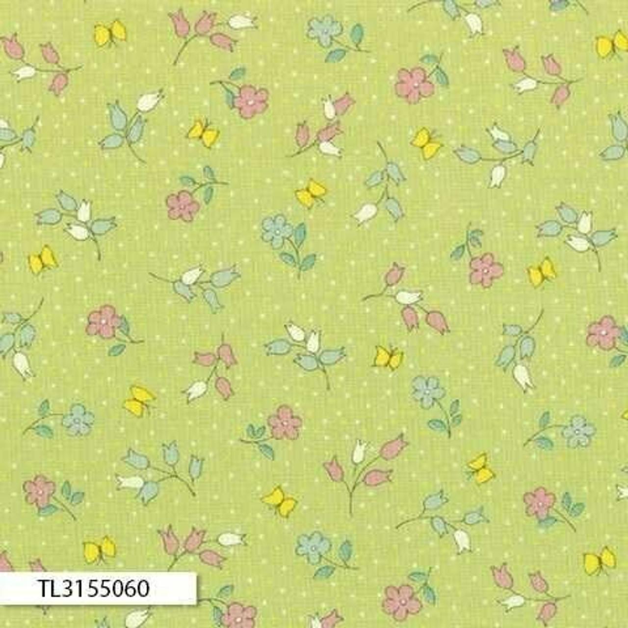 Retro 30's Child Smile: Floral Green