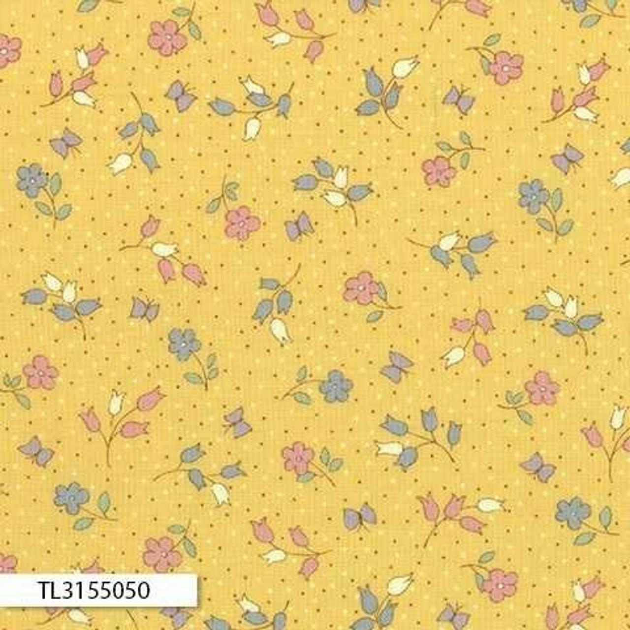 Retro 30's Child Smile: Floral Yellow