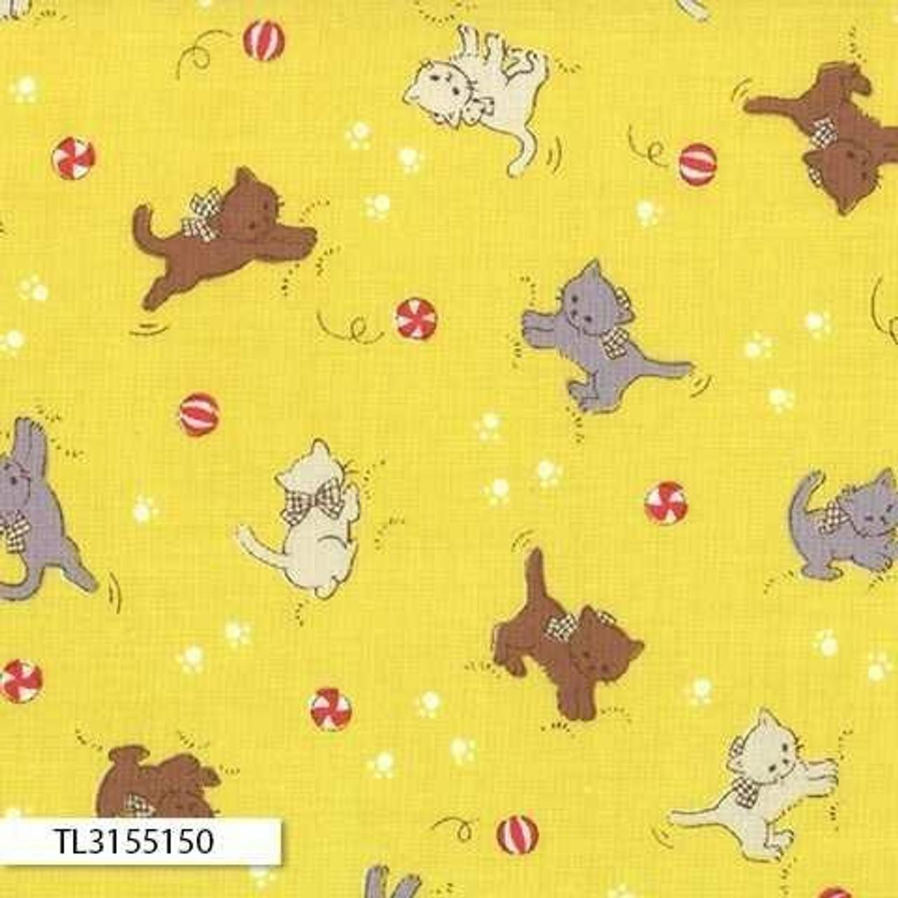 Retro 30's Child Smile: Kitty Yellow