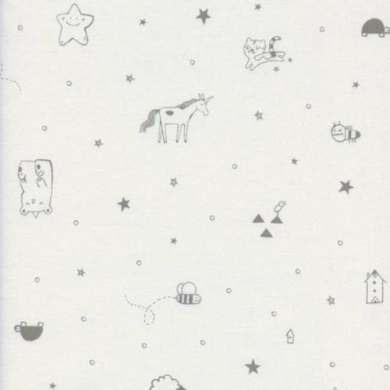 Sarah Watts : Cotton + Steel Sleep Tight - Tinies White