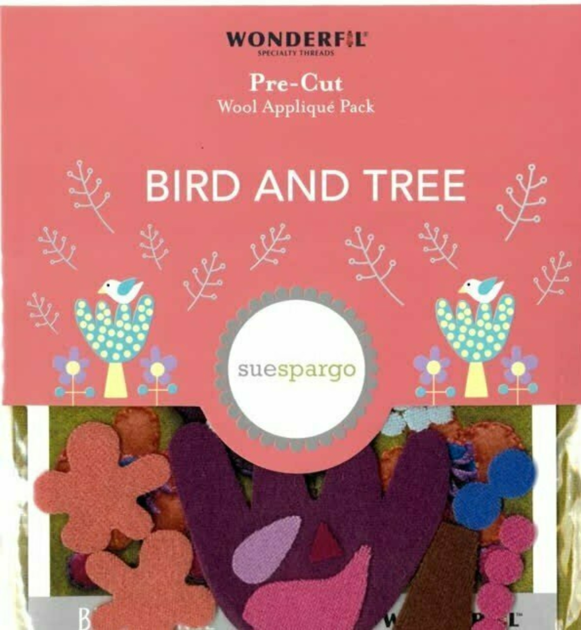 Sue Spargo Bird and Tree Pre-cut Wool Applique Pack