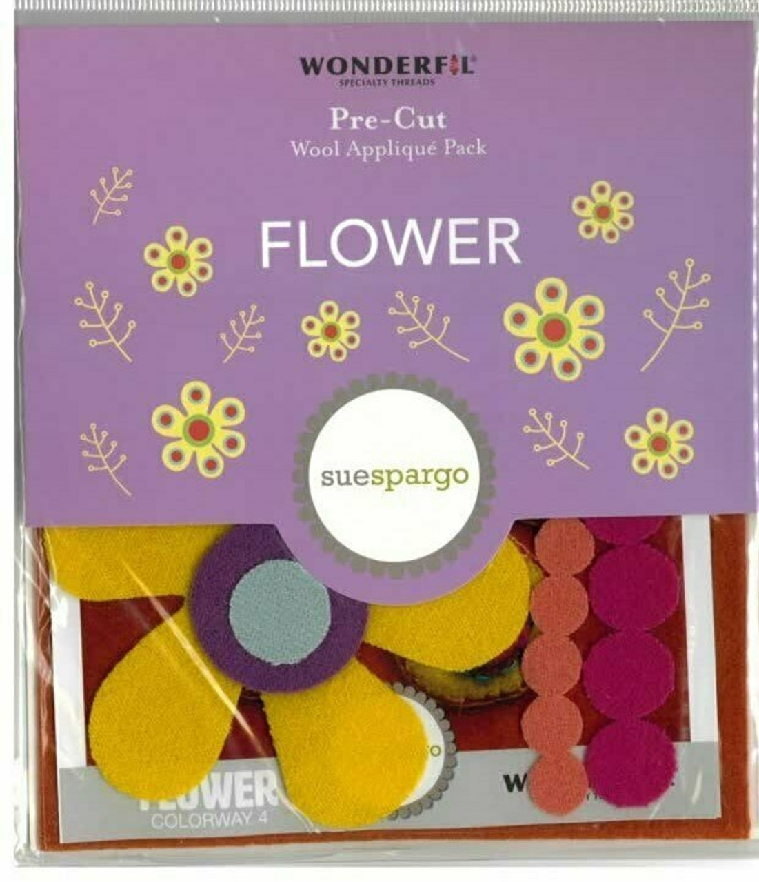 Sue Spargo Flower Pre-cut Wool Applique Pack
