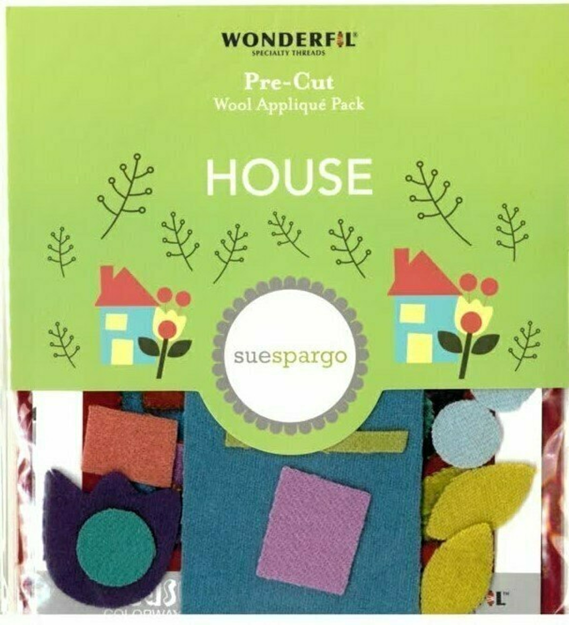 Sue Spargo House Pre-cut Wool Applique Pack