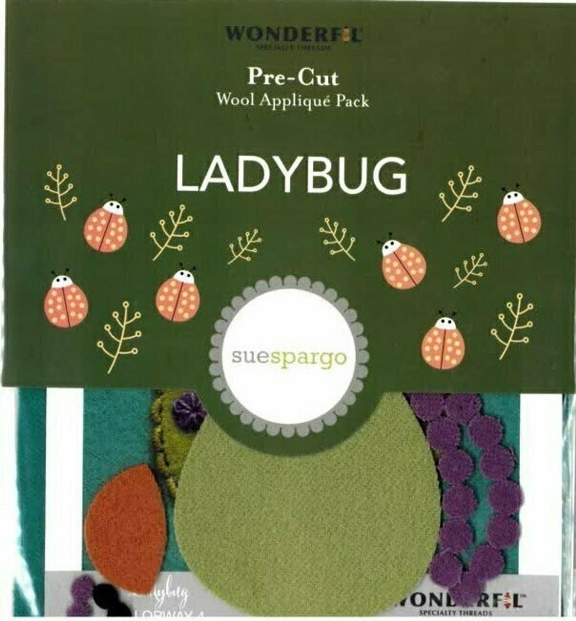 Sue Spargo Ladybug Pre-cut Wool Applique Pack