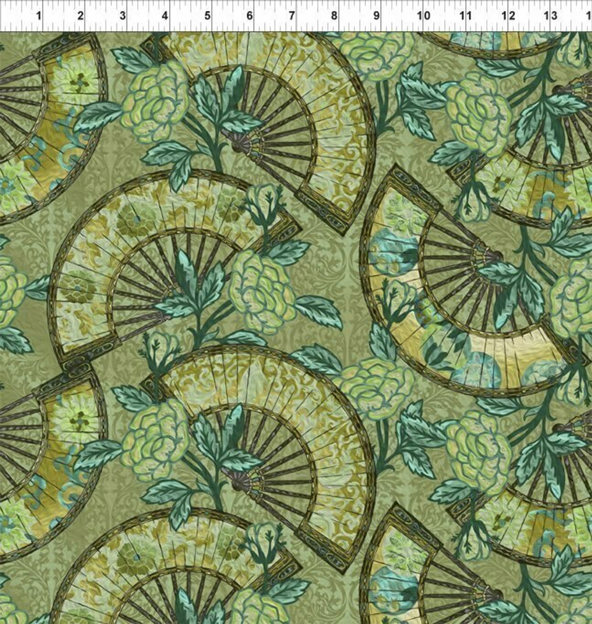 The Pastiche Collection - Fans - Green
