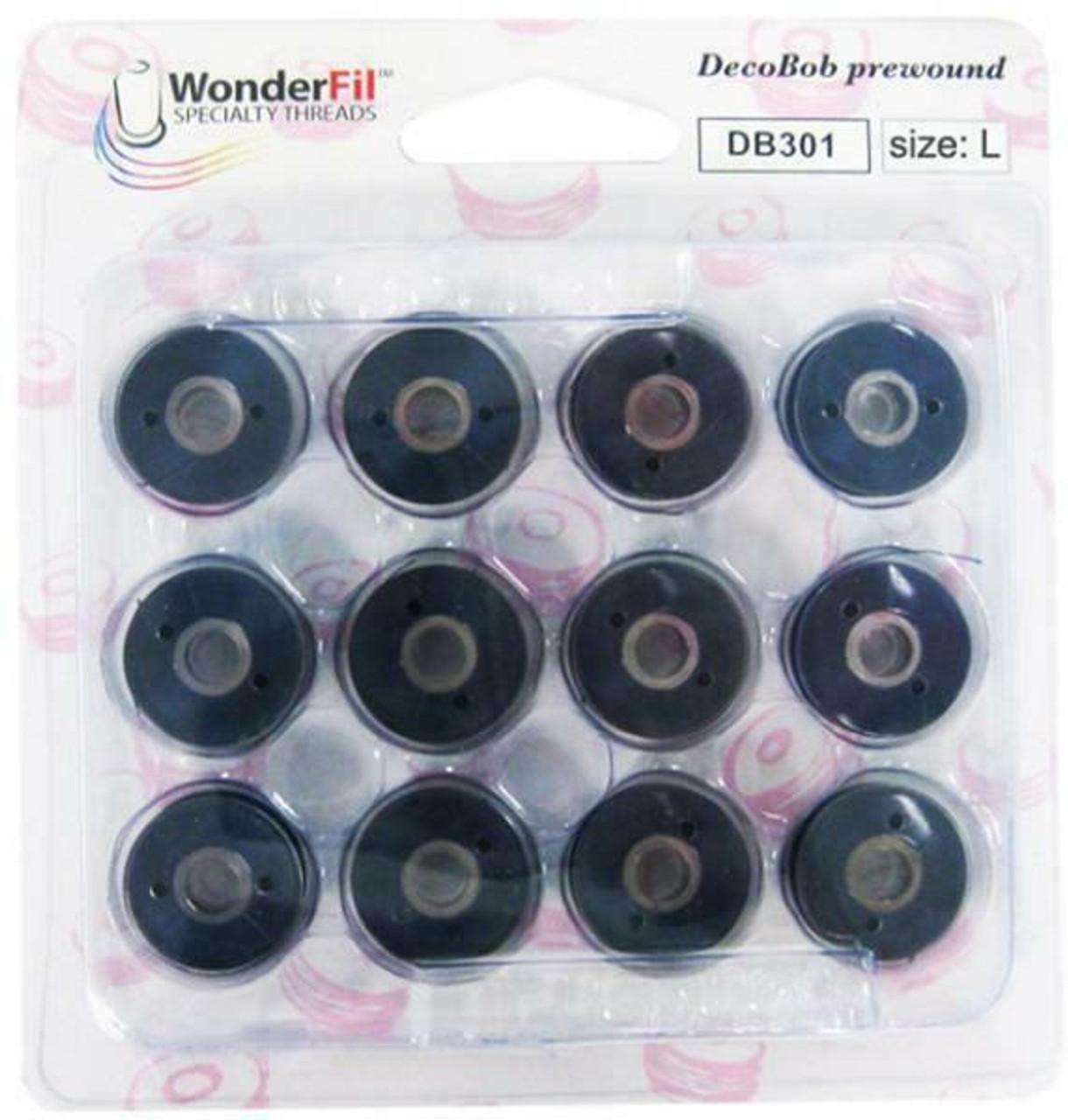 Wonder-Fil DecoBob Prewound Bobbins Size L: Navy