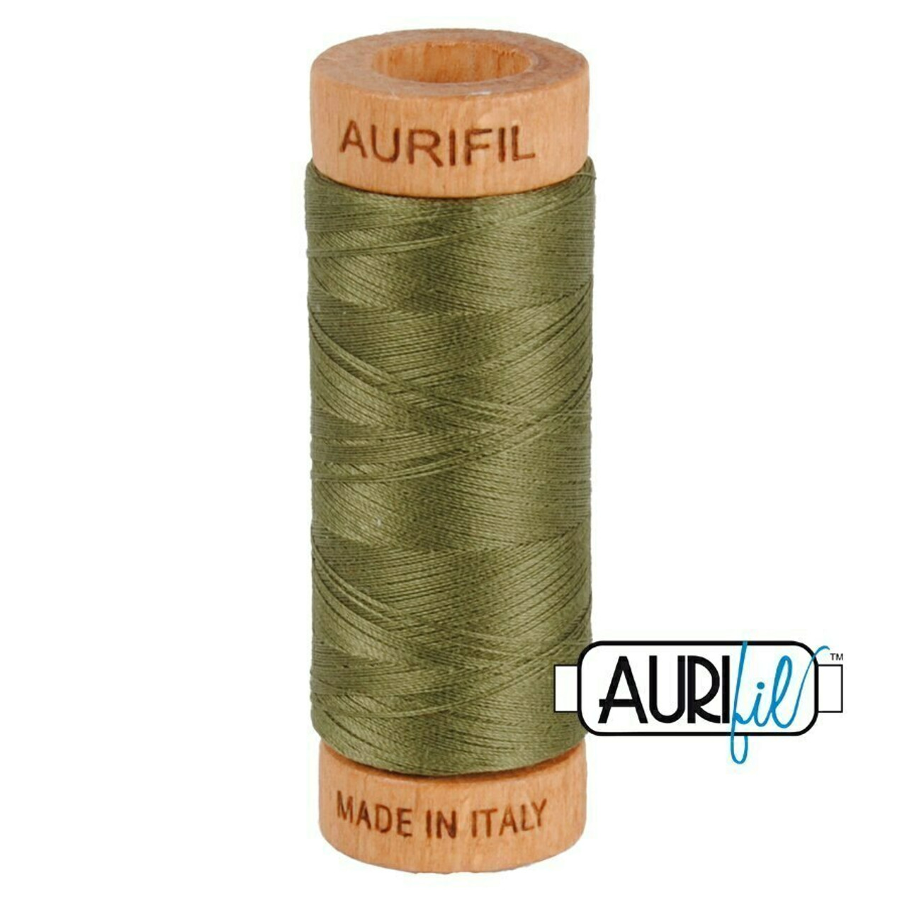 Aurifil 80wt Army Green (2905) thread