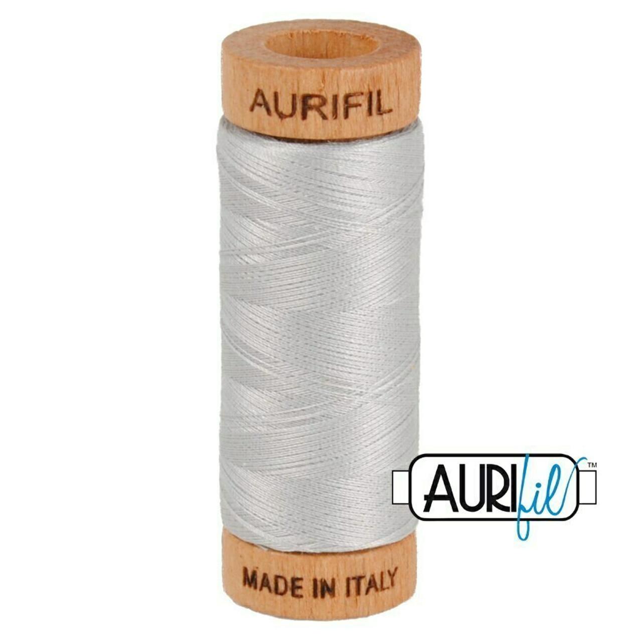 Aurifil 80wt Aluminium (2615) thread