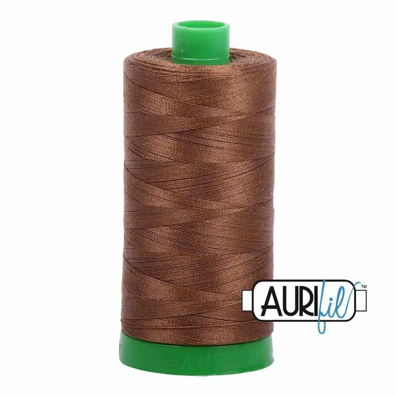 Aurifil 40wt Dark Antique Gold (2372) thread