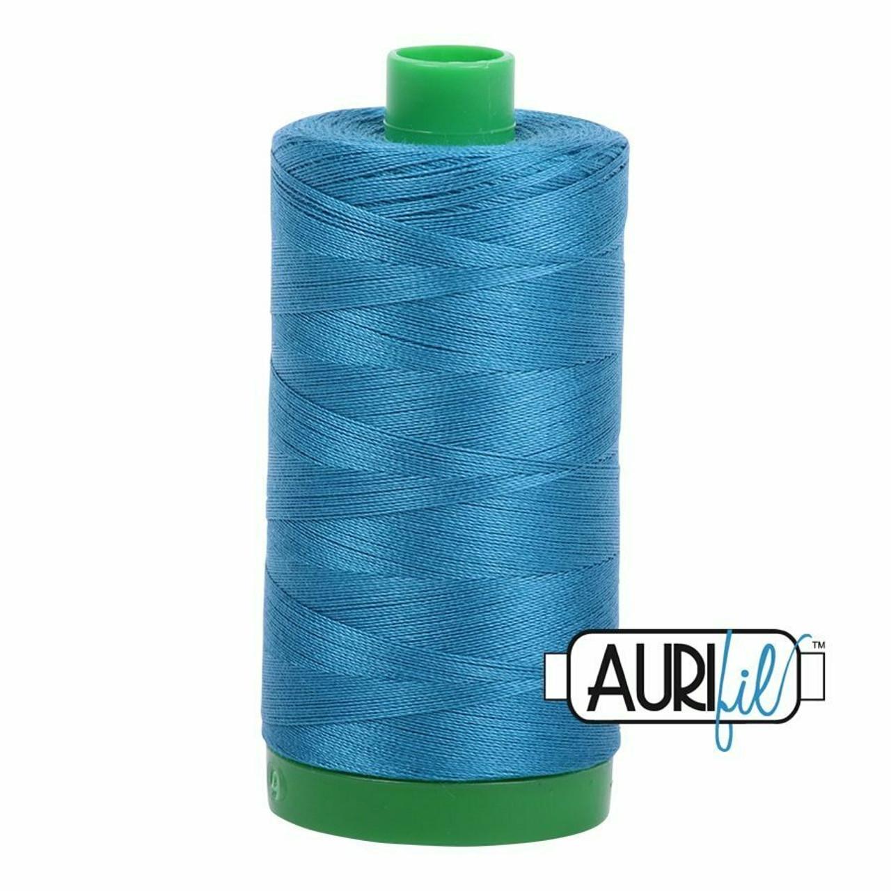 Aurifil 40wt Medium Teal (1125) thread