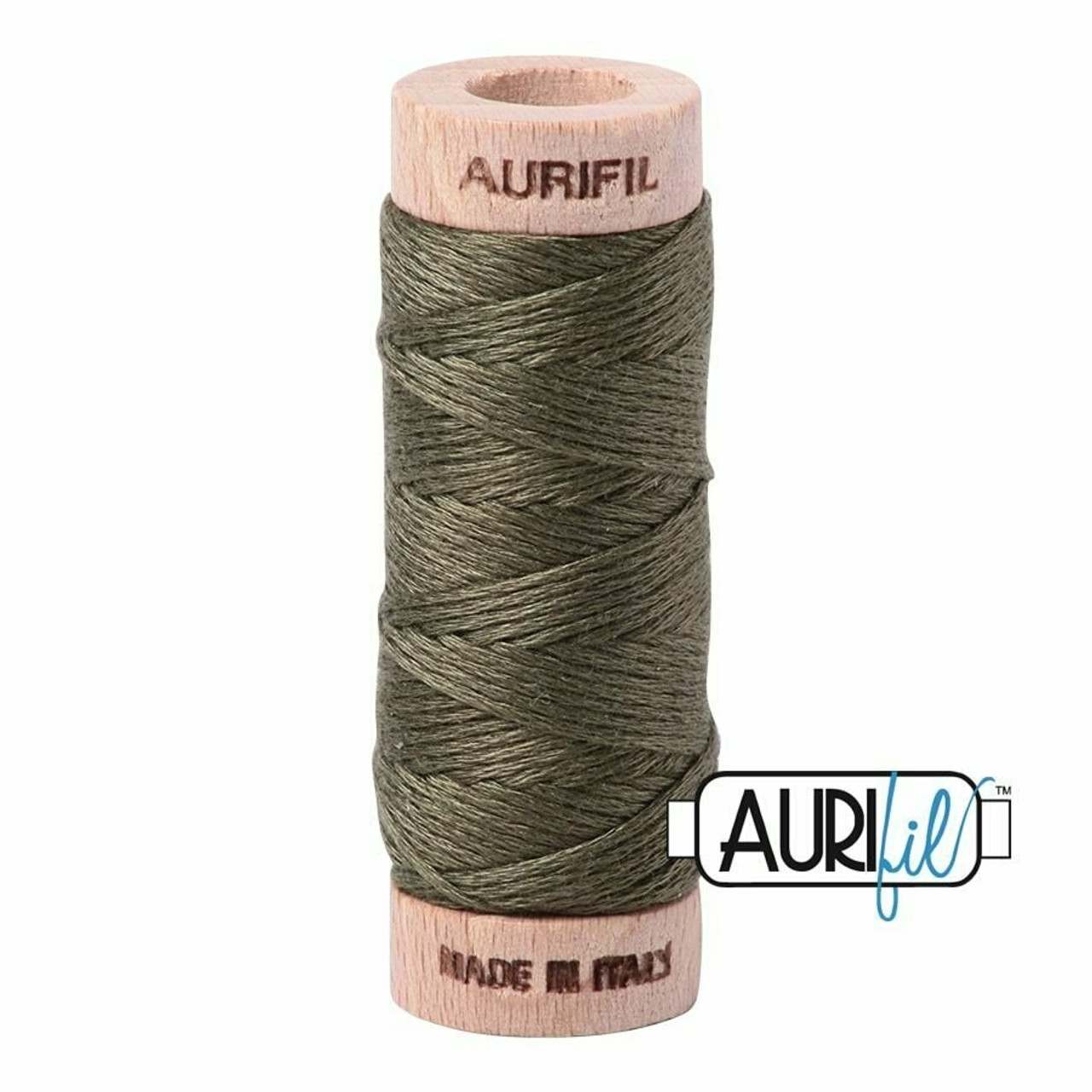 Aurifil Floss Army Green (2905) thread