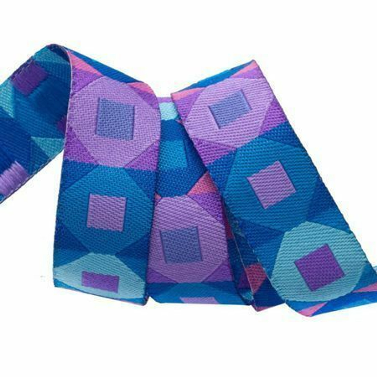 Sue Spargo Ribbon : Blue and Purple Squares