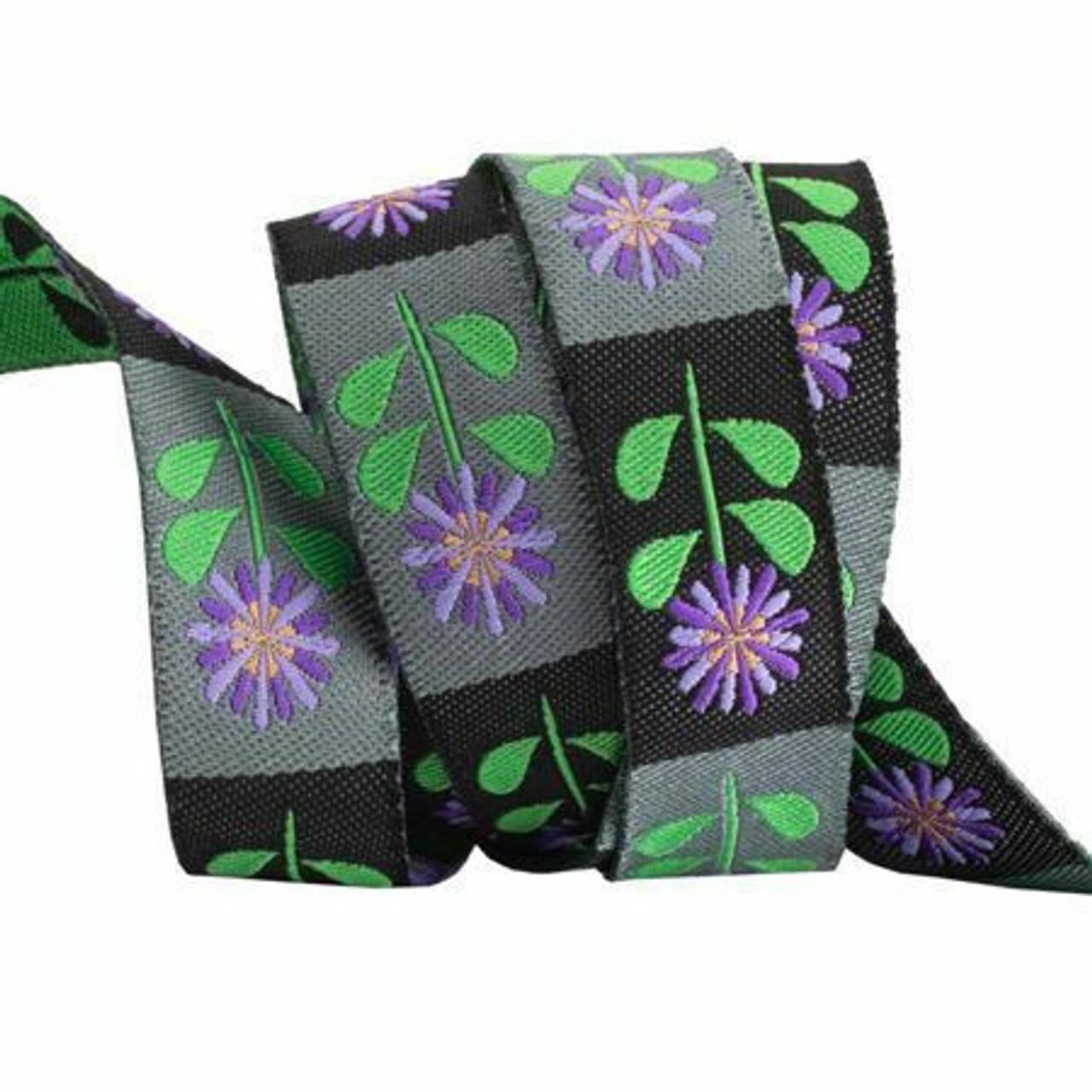 Sue Spargo Ribbon : Purple Daisies