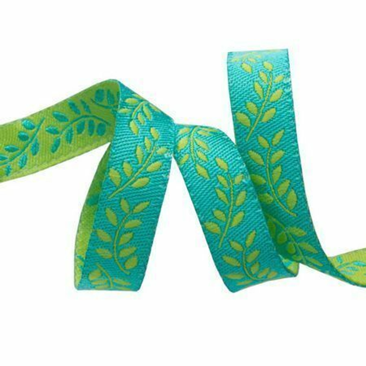 Sue Spargo Ribbon : Branches on Blue