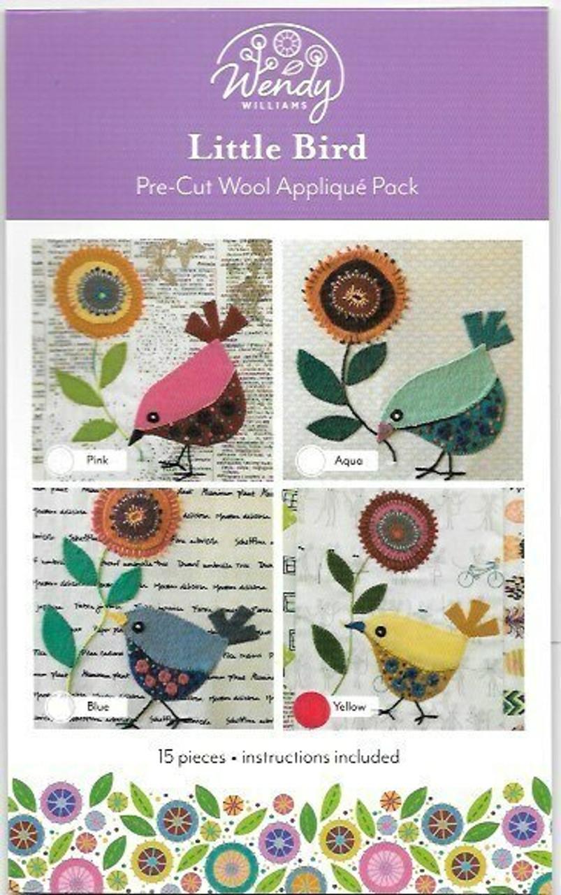 Wendy Williams Little Bird Pre-cut Wool Applique Pack