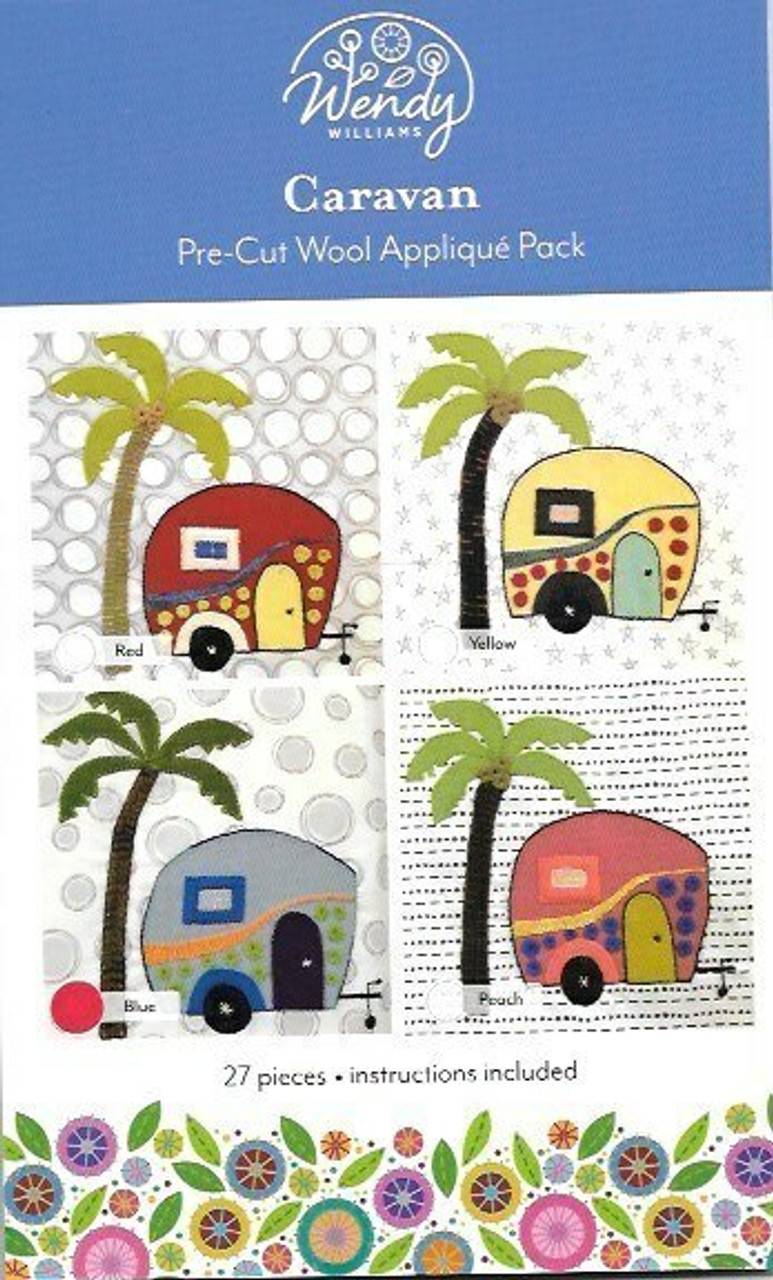 Wendy Williams Caravan Pre-cut Wool Applique Pack