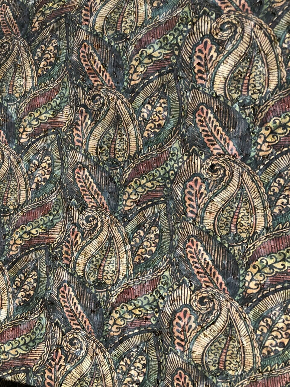 Natural Cork with Paisley Print