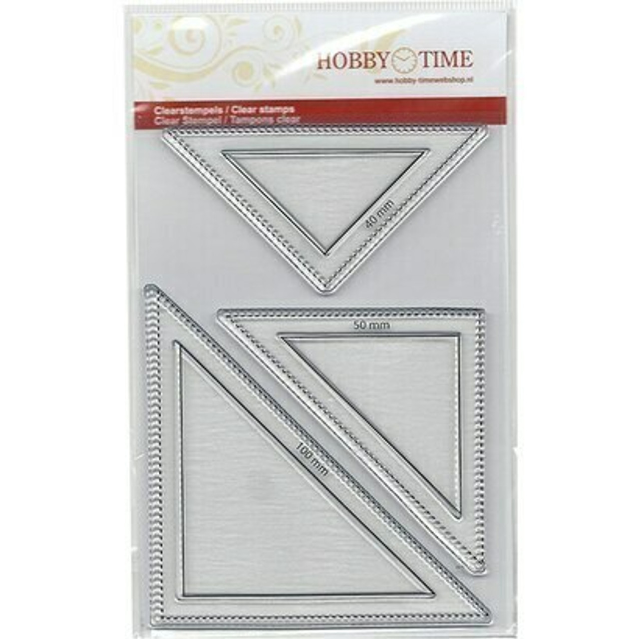 Hobby Time 3 Size Half Square Stamp Set