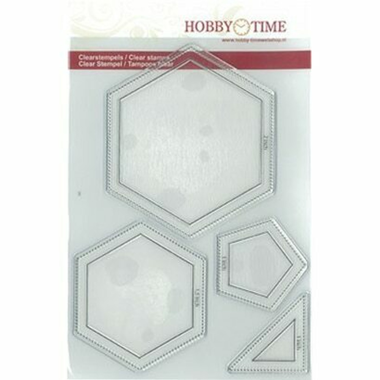 Hobby Time Big Hexagon, Pentagon and Half Square Stamp Set