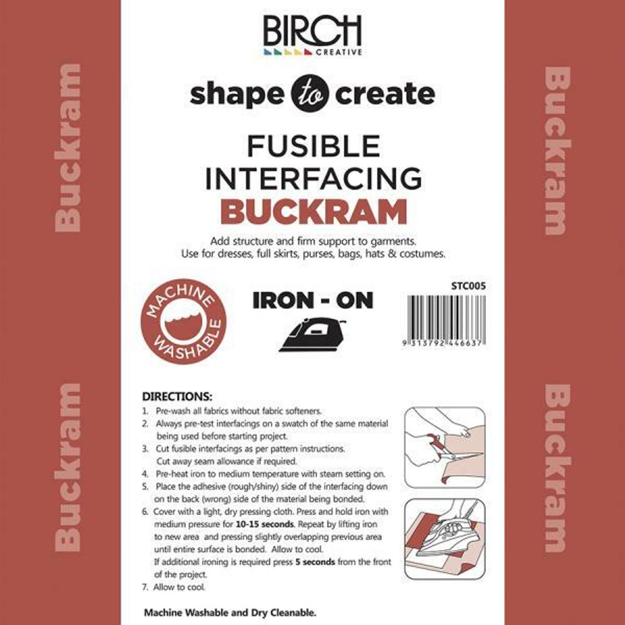 Shape to Create - Iron-on Buckram
