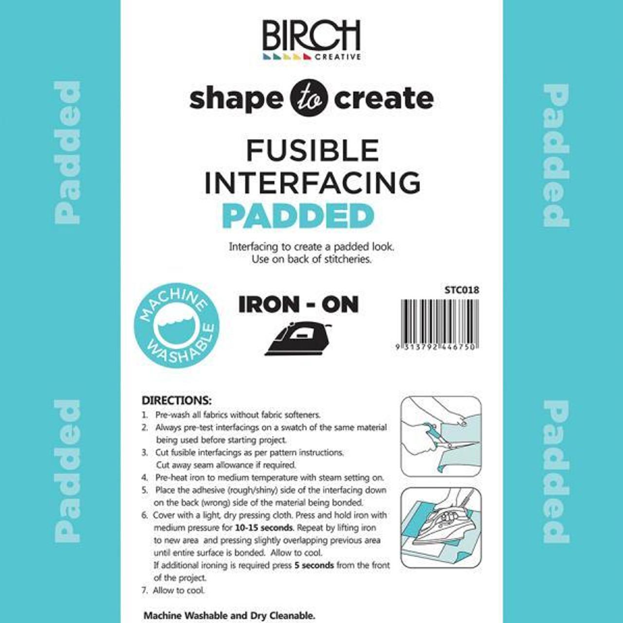 Shape to Create - Padded Iron-on Interfacing