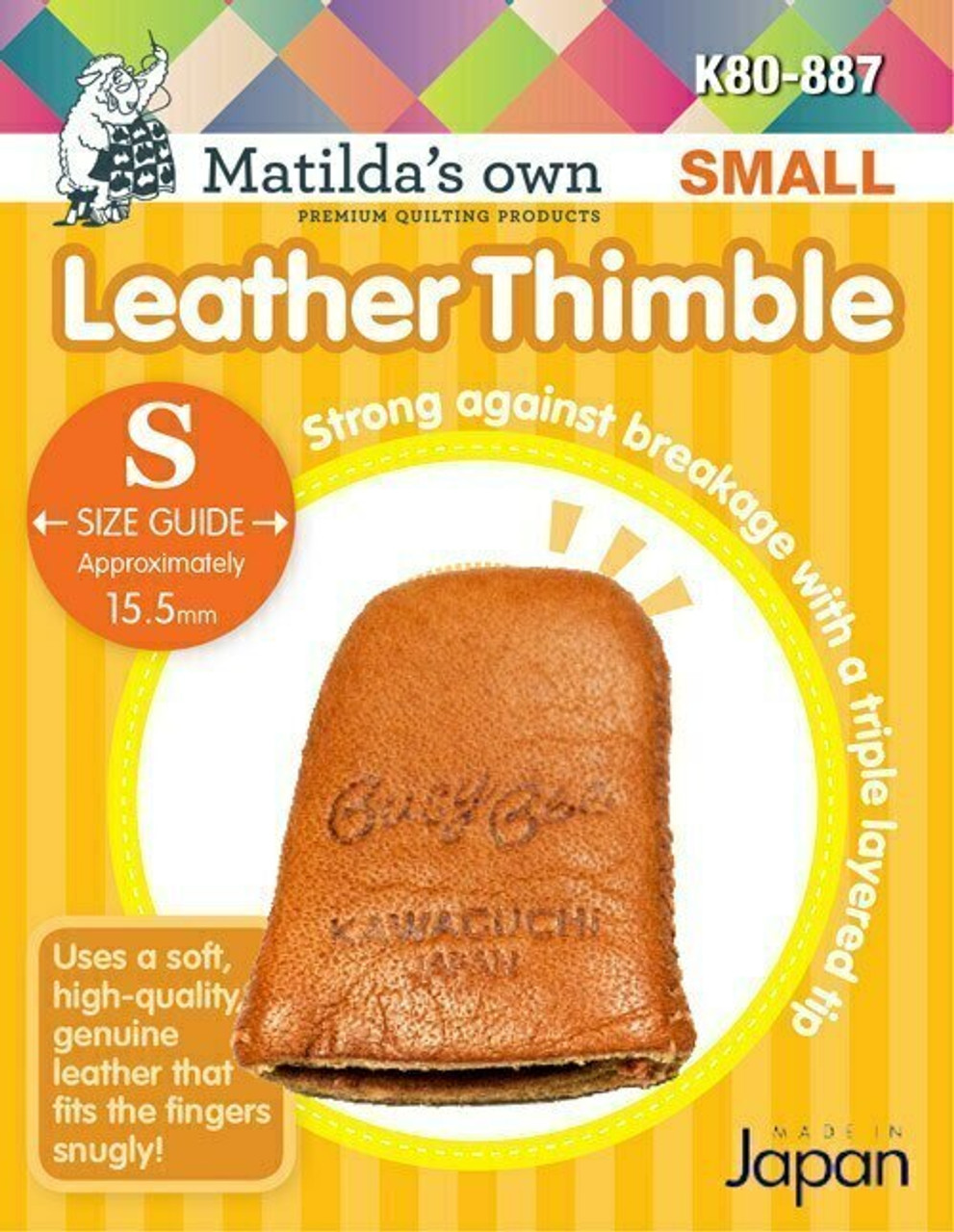 Leather Thimble - Small