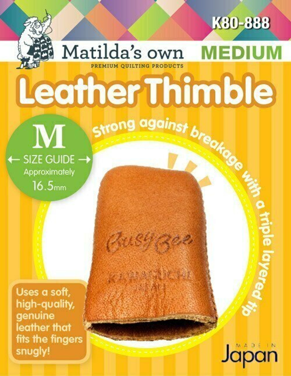 Leather Thimble - Medium